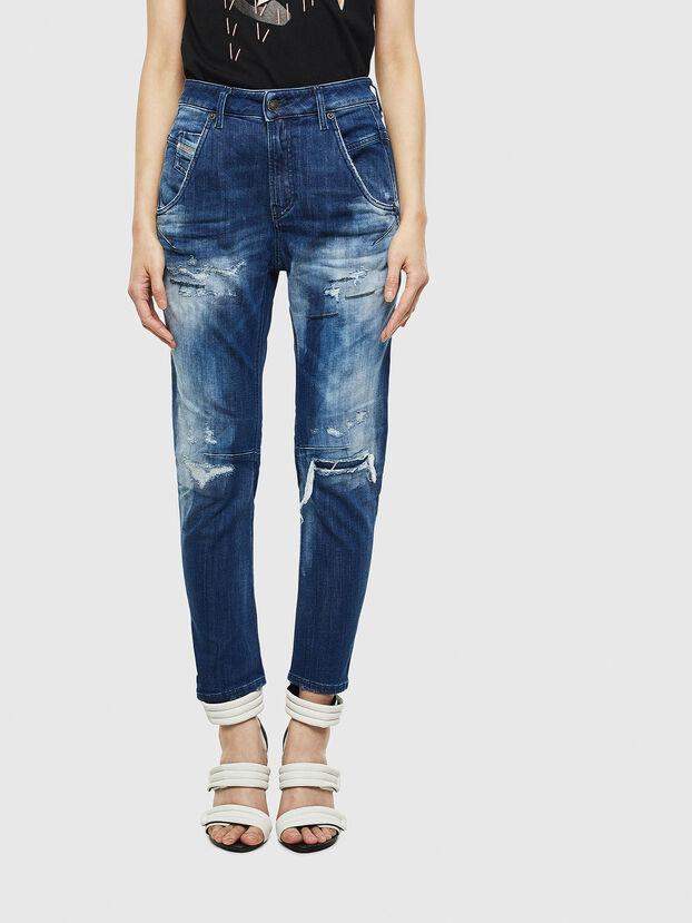 Fayza JoggJeans 0099S, Dunkelblau - Jeans