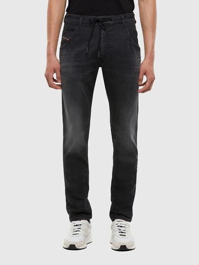Diesel - KROOLEY JoggJeans® 009KD, Schwarz/Dunkelgrau - Jeans - Image 1