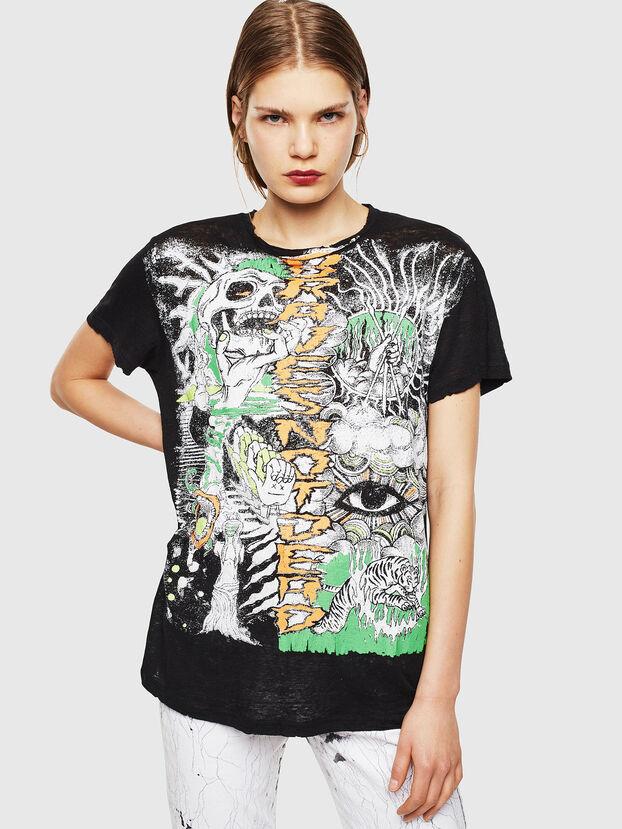 T-DARIA-YB, Schwarz - T-Shirts