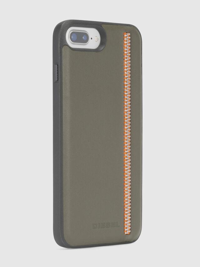 Diesel - ZIP OLIVE LEATHER IPHONE 8 PLUS/7 PLUS/6s PLUS/6 PLUS CASE, Olivgrün - Schutzhüllen - Image 4