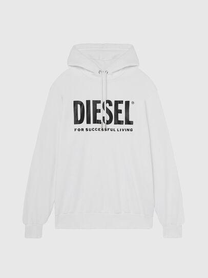 Diesel - S-GIR-HOOD-DIVISION-, Weiß - Sweatshirts - Image 1