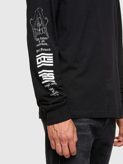 Diesel - T-JUST-LS-N61, Schwarz - T-Shirts - Image 3