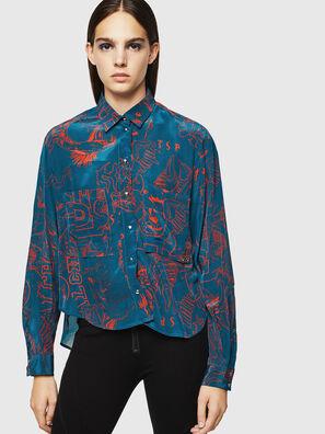 C-SUPER-F, Blau/Rot - Hemden