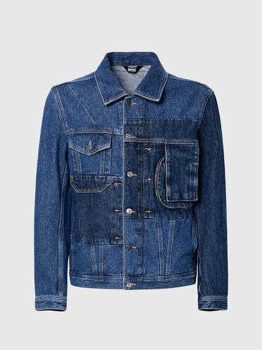 Jeansjacke im Patchworkdesign