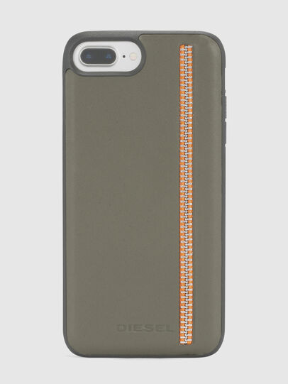 Diesel - ZIP OLIVE LEATHER IPHONE 8 PLUS/7 PLUS/6s PLUS/6 PLUS CASE, Olivgrün - Schutzhüllen - Image 2