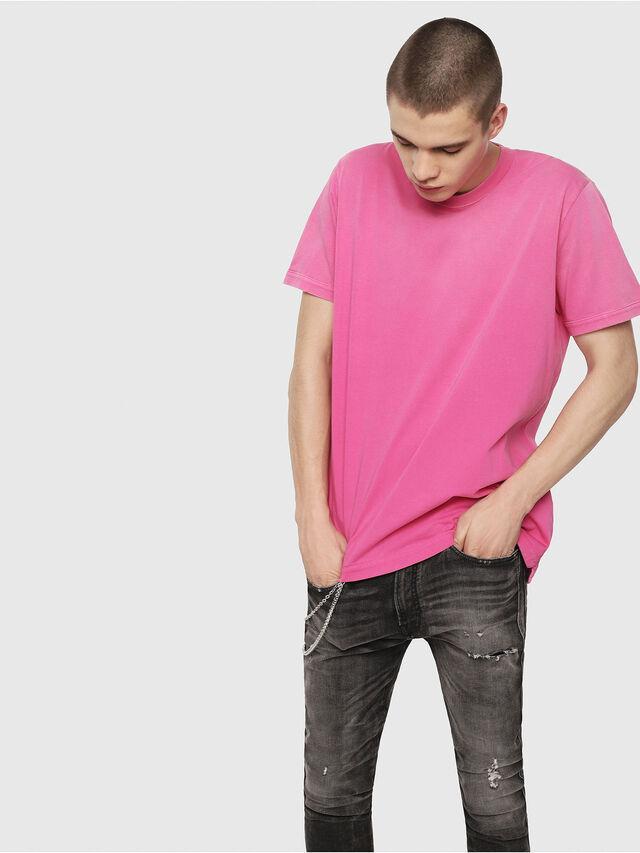Diesel - T-SHIN, Fuchsie - T-Shirts - Image 1
