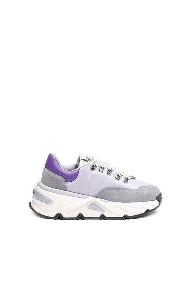 Klobige Sneakers aus Nylon und Wildleder