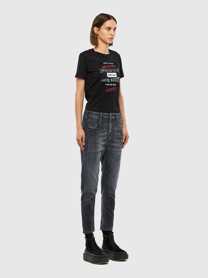 Diesel - FAYZA JoggJeans® 069QA, Schwarz/Dunkelgrau - Jeans - Image 7