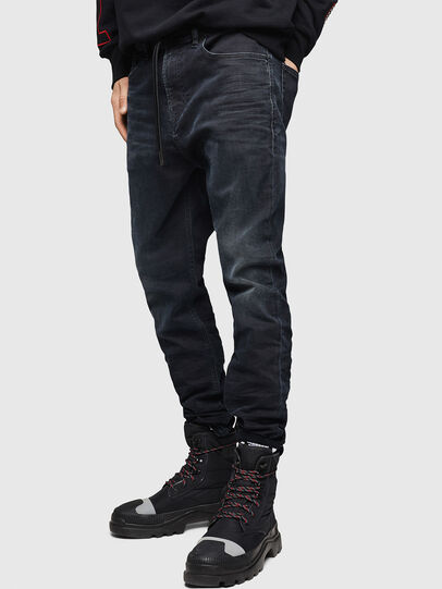 Diesel - D-Vider JoggJeans 069GE, Schwarz/Dunkelgrau - Jeans - Image 4