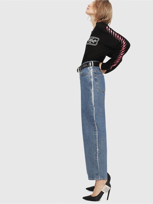 Diesel - Widee 0077V, Mittelblau - Jeans - Image 4